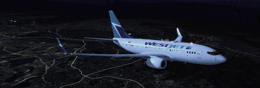 WestJet B737 in Flight